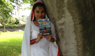 With my book