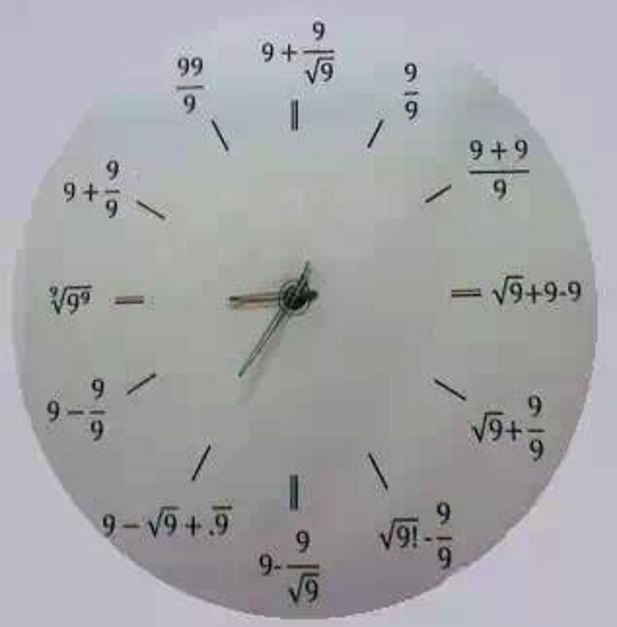 Btw, what's the time on this mathClock? ;) O' god! I could be bound in a nutshell and count myself the queen of infinite space... the unimaginable universe!