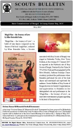 Scouts Bulletin covering 'magicNine 0the journey of love' dance production