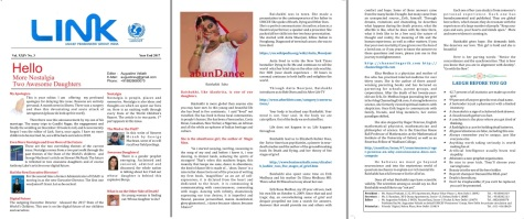 coverage of my speech on life after death at UNICEF LINK magazine