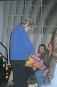 neale shaking hands with all retreat participants