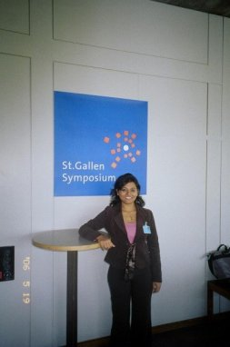 participating at the st. gallen symposium in switzerland