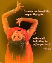break the boundaries in your thoughts, and end all limitations to self-expression