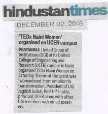 TEDxNainiWomen on Hindustan Times