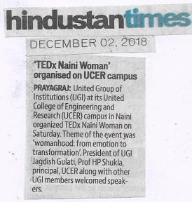 TEDxNainiWomen on Hindustan Times