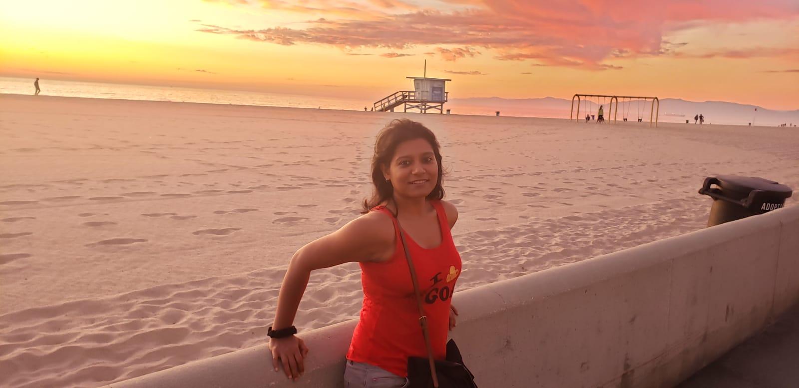Sunset at Playa Hermosa, LA