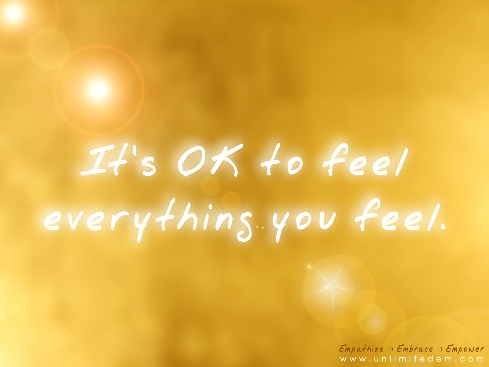 okay to feel